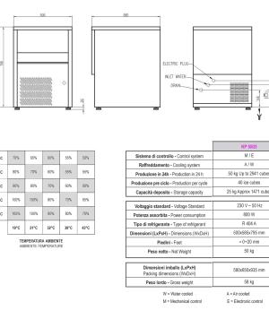 Fabricadora De Hielo Kastel - Aristarco Kp50/25